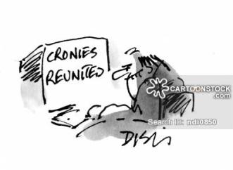 Cronies reunited.
