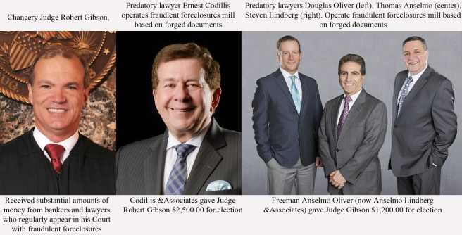 Chancery Judge Gibson took money from foreclosure lawyers